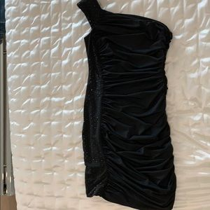 NEVER WORN black with stones cocktail dress